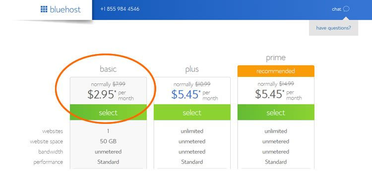 bluehost discount 750x345 - BlueHost Review: Pros & Cons, Speed Test, User Reviews  Cloud or shared Hosting