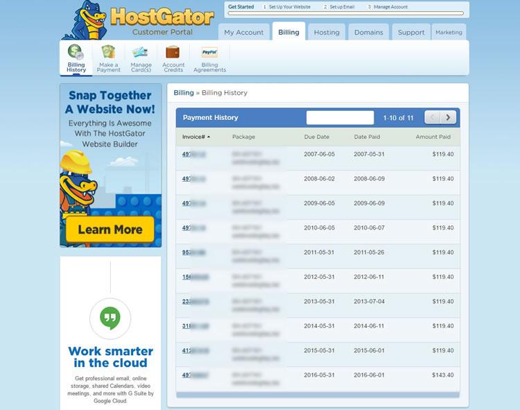 hostgator 10 years billing - Hostgator Cloud Hosting Review: Pros & Cons, Speed TestBlue host VS Host Gator