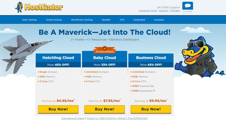 hostgator cloud page - Hostgator Cloud Hosting Review: Pros & Cons, Speed TestBlue host VS Host Gator