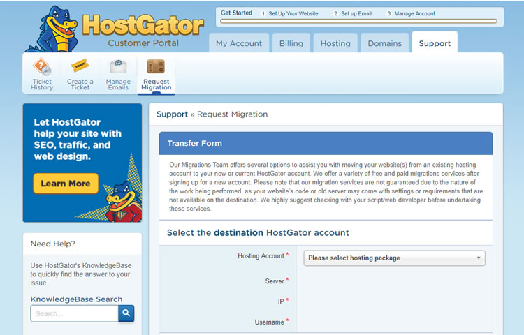 hostgator migration - Hostgator Cloud Hosting Review: Pros & Cons, Speed TestBlue host VS Host Gator