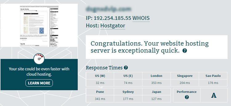 hostgator server speed 750x344 - Hostgator Cloud Hosting Review: Pros & Cons, Speed TestBlue host VS Host Gator