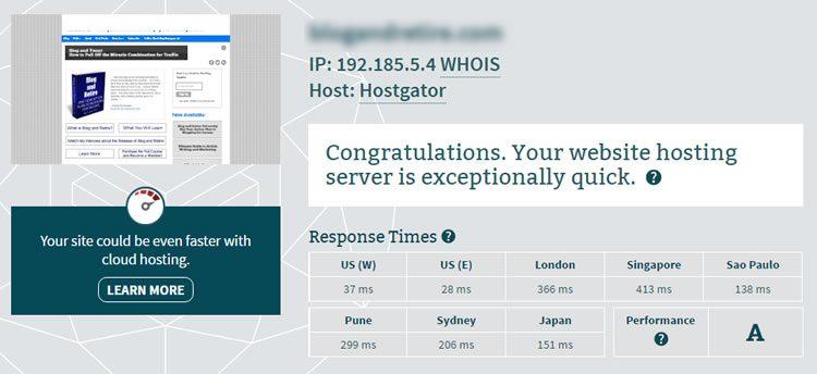 hostgator server test result 3 750x344 - Hostgator Cloud Hosting Review: Pros & Cons, Speed TestBlue host VS Host Gator