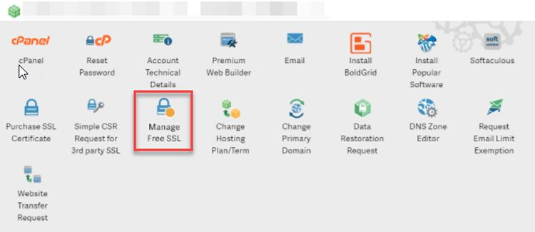step 1 - installing auto ssl at inmotion hosting - important for business websites