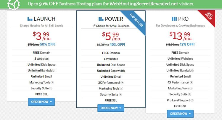 Business Hosting Cost Reference - Host much to Pay? Example - InMotion