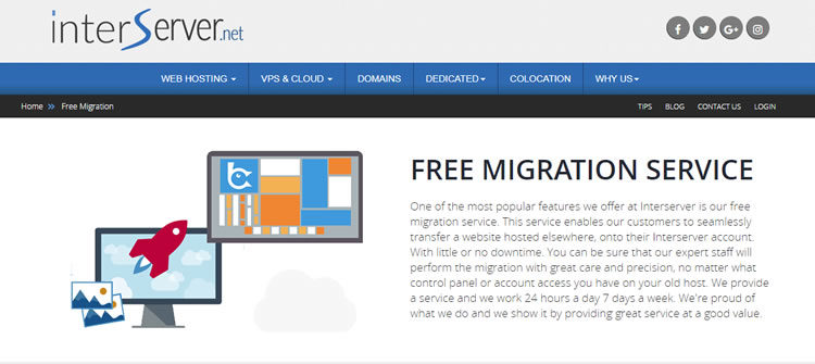 Examen interserveur - Services de migration de site