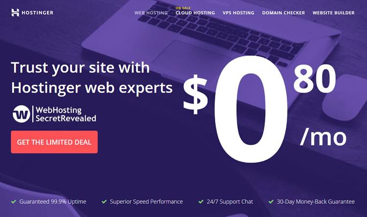 Hostinger has the best bundled and dedicated email hosting