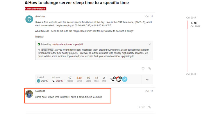 000WebHost Sleep Time
