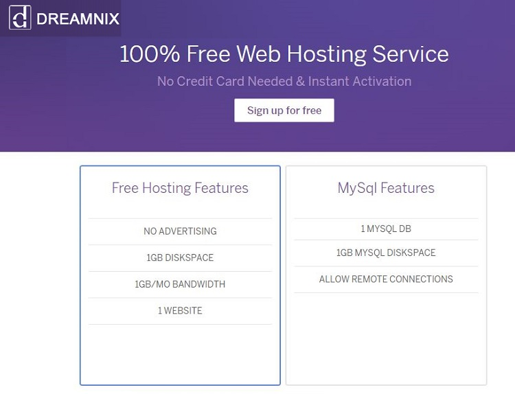 Review and compare free web host
