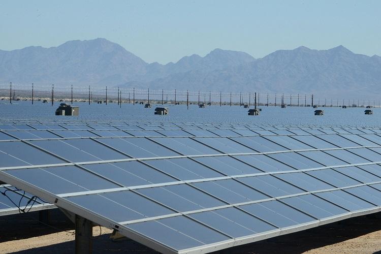 A solar energy farm used to produce clean energy