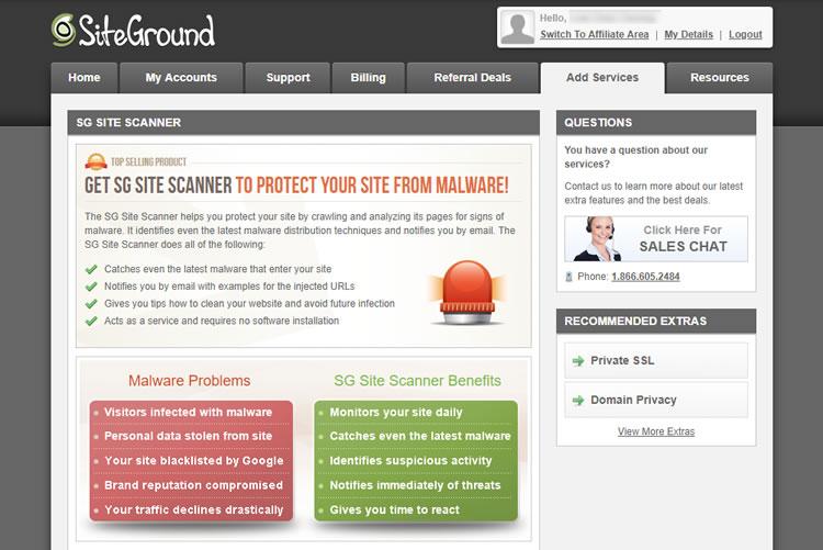 SiteGround SG Scanner