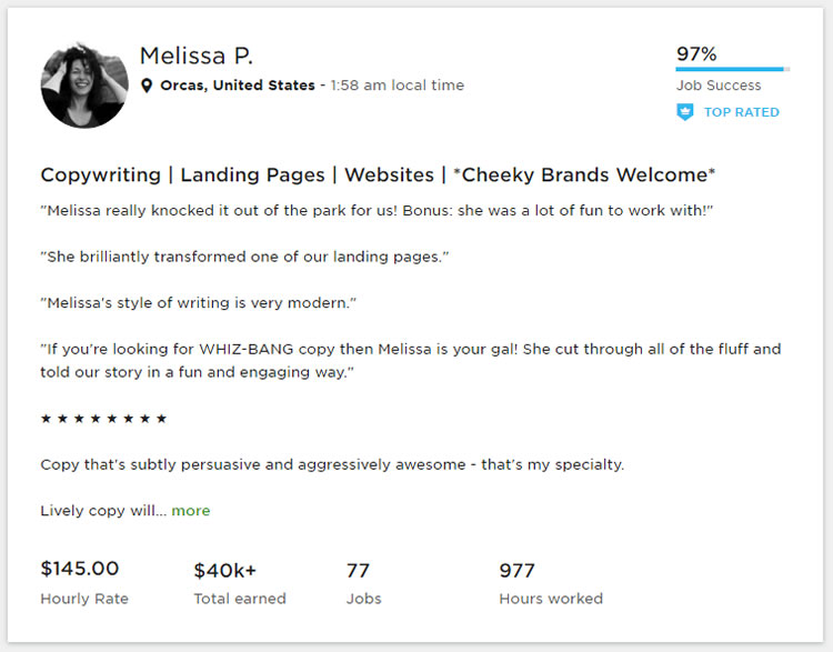 Costo de construir un sitio web - Contenido / costo de escritura