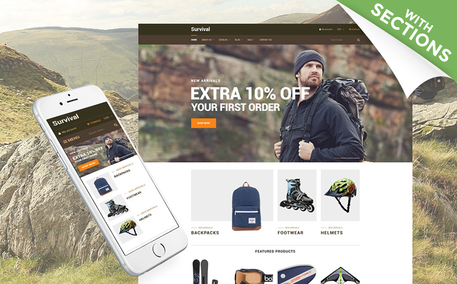 Motyw Travelline Shopify Theme