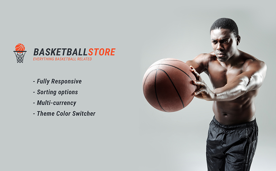 Responsives Shopify-Thema für Basketball