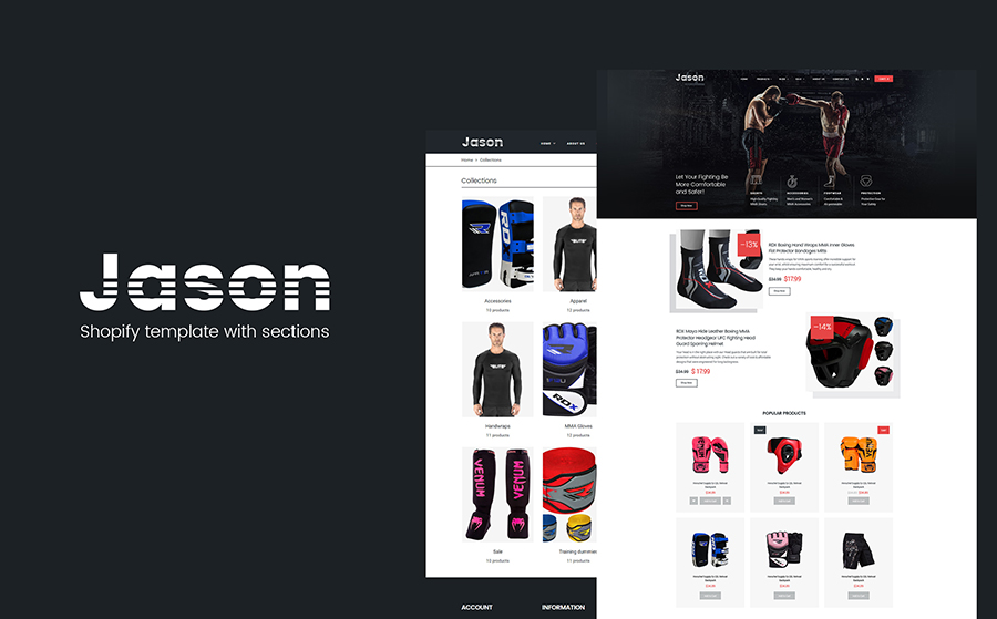 Martial Arts Responsive Shopify-Thema