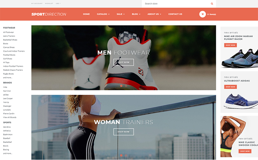 Sport Direction - Sportgeschäft Shopify Theme