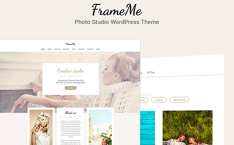 FrameMe - фотостудия WordPress Theme.