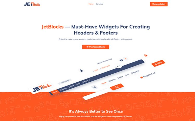 JetBlocks - Plugin WordPress per widget intestazione e piè di pagina Elementor