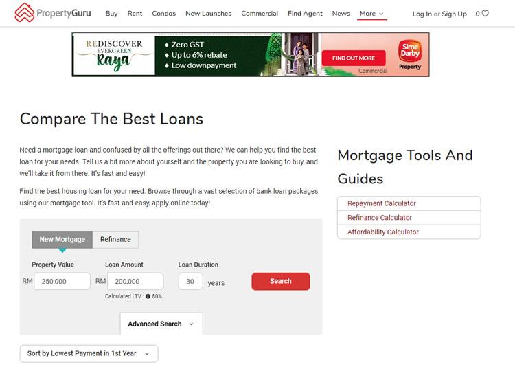 Property Guru - Loan Calculator for Real Estate Buyers