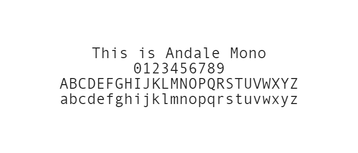 Web Safe Fonts -  Andale Mono