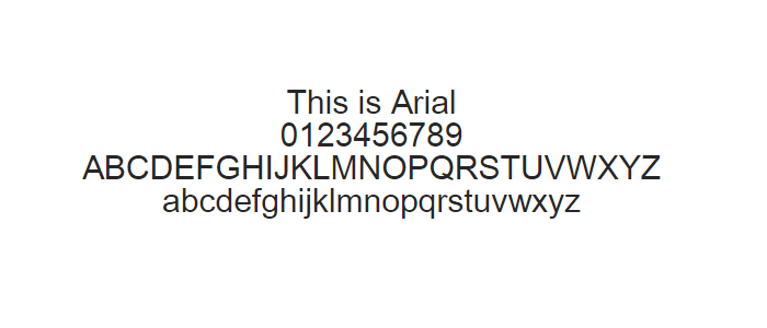 Web Safe Fonts - Arial