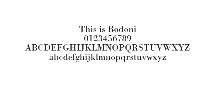 Web Safe Fonts - Bodoni