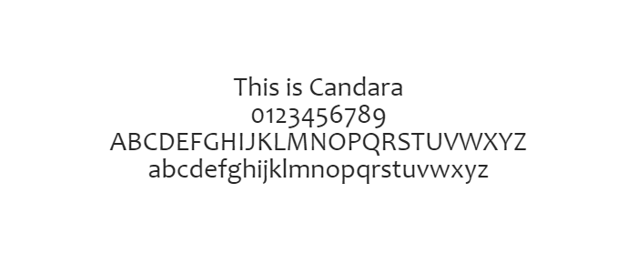 Web Safe Fonts - Candara