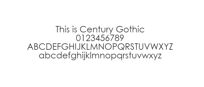 Webveilige lettertipes - Century Gothic