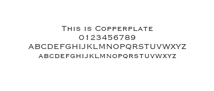 Web Safe Fonts - Copperplate