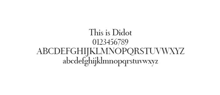 Web Güvenli Yazı Tipleri - Didot