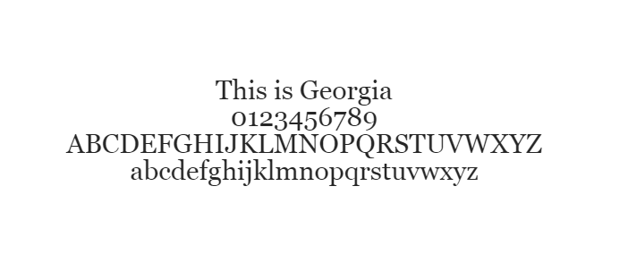 Web Safe Fonts - Georgia