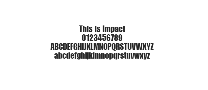 Web Safe Fonts - Impact