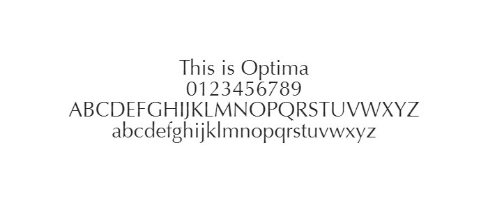 Web Safe Fonts - Optima