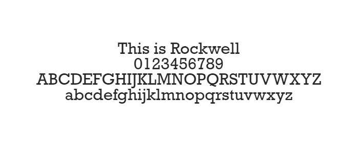 Phông chữ An toàn trên Web - Rockwell
