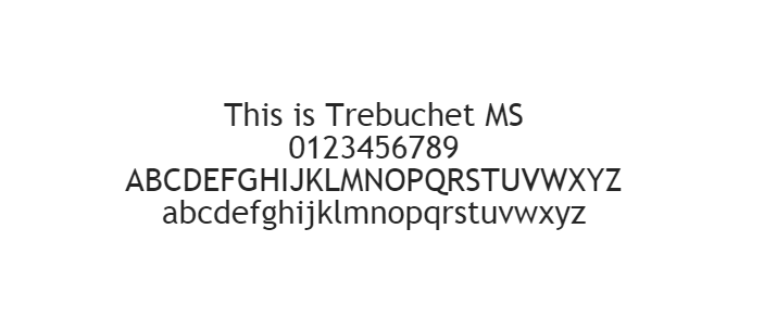 Web Safe Fonts - Trebuchet