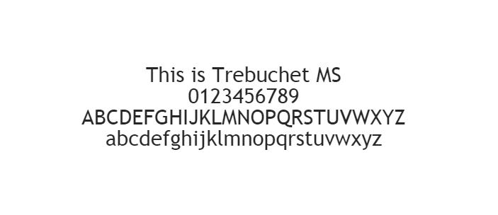 Web Güvenli Yazı Tipleri - Trebuchet
