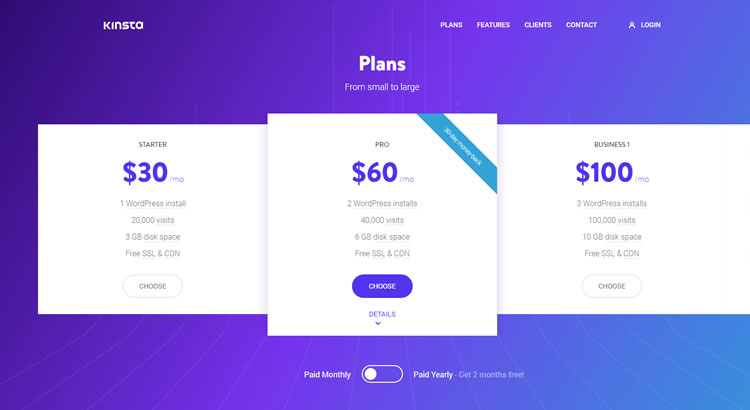 Kinsta hosting for WordPress