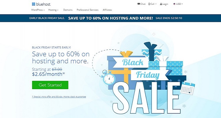 Bluehost Black Friday Promotions