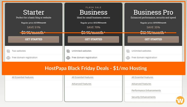 Hostpapa Black Friday Promotions