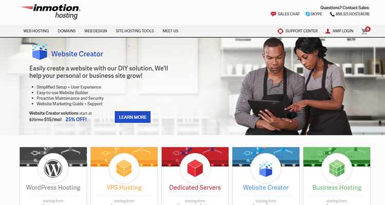 InMotion Hosting - Top Hosting Business.