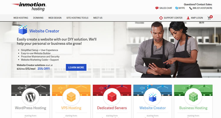 Example - InMotion, one of my top rated web hosts, offers full range hosting service