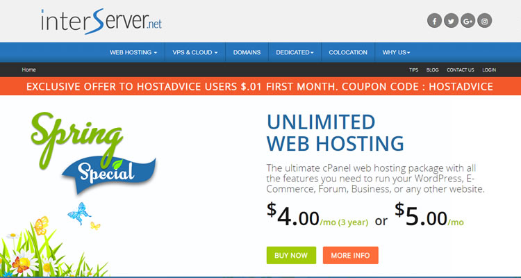 Interserver Business Hosting Plans