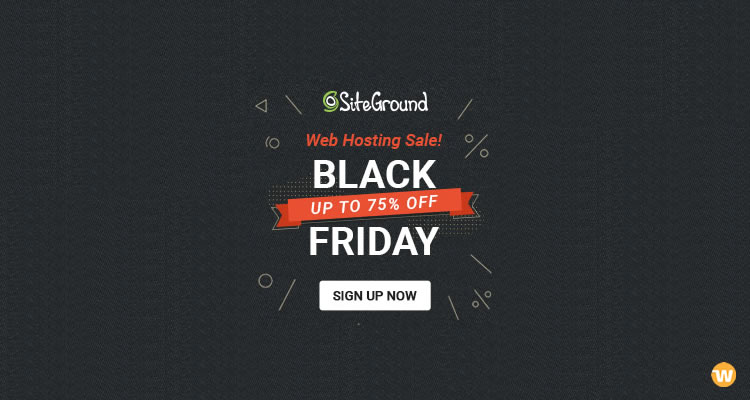 SiteGround Black Friday / Cyber ​​Monday 2018