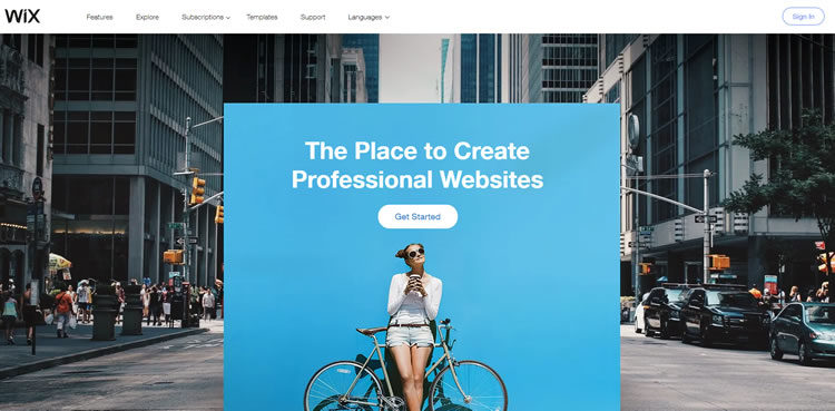 Wix - Recommended Web Solutions for Small Business