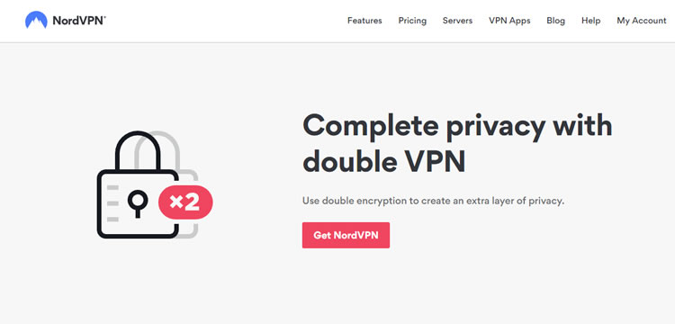 Double VPN feature offered by NordVPN.