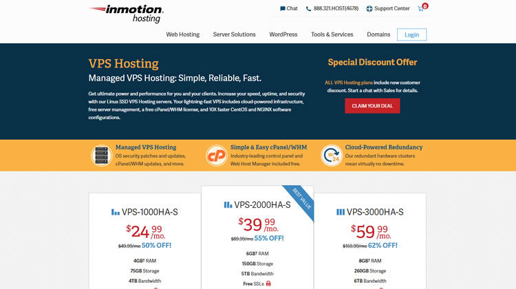 Inmotion hosting planes vps