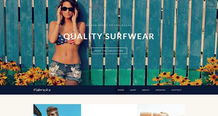 Tema di e-commerce gratuito Weebly