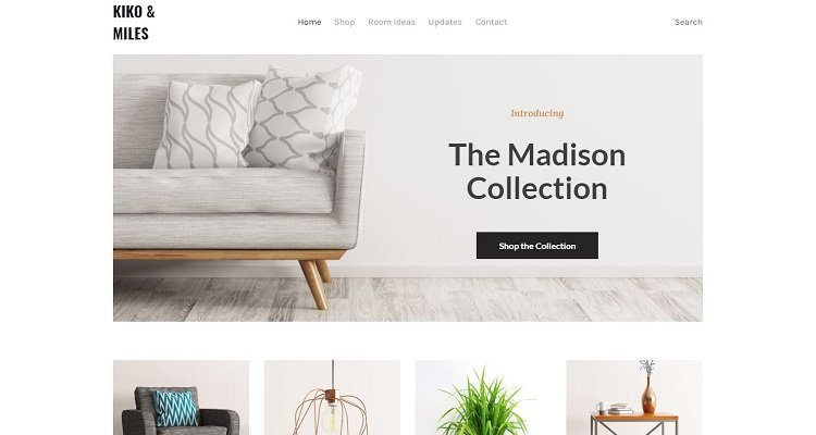 Tema di e-commerce Weebly