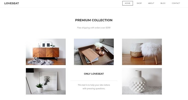 Weebly eCommerce website theme