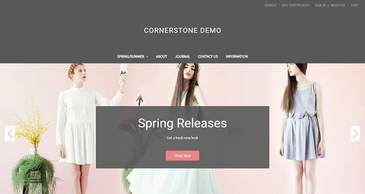 Bigcommerce free ecommerce template Cornerstone