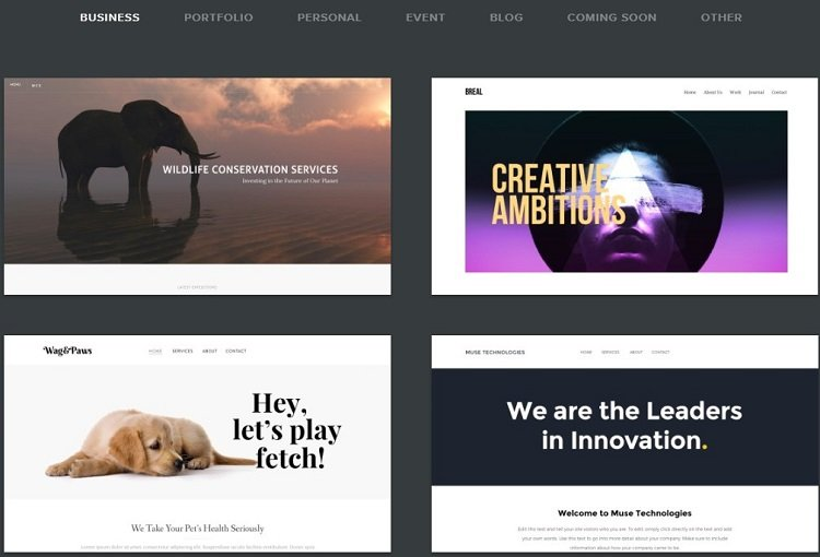 Weebly Themes - Built-in website templates in Weebly